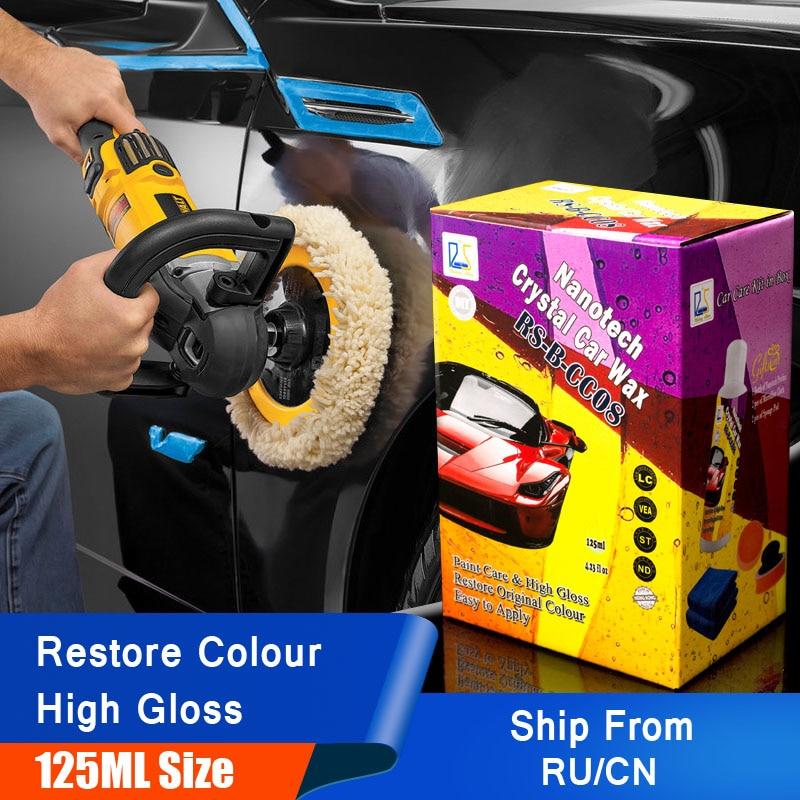 Estrela em ascensão RS-B-CC08 Cuidados de Cera Do Carro Auto Pintura Do Carro Pasta de Limpeza e Detalhamento Nanotecnologia Cristal Cera de Carro Cera Automotiva 125 ml Kit