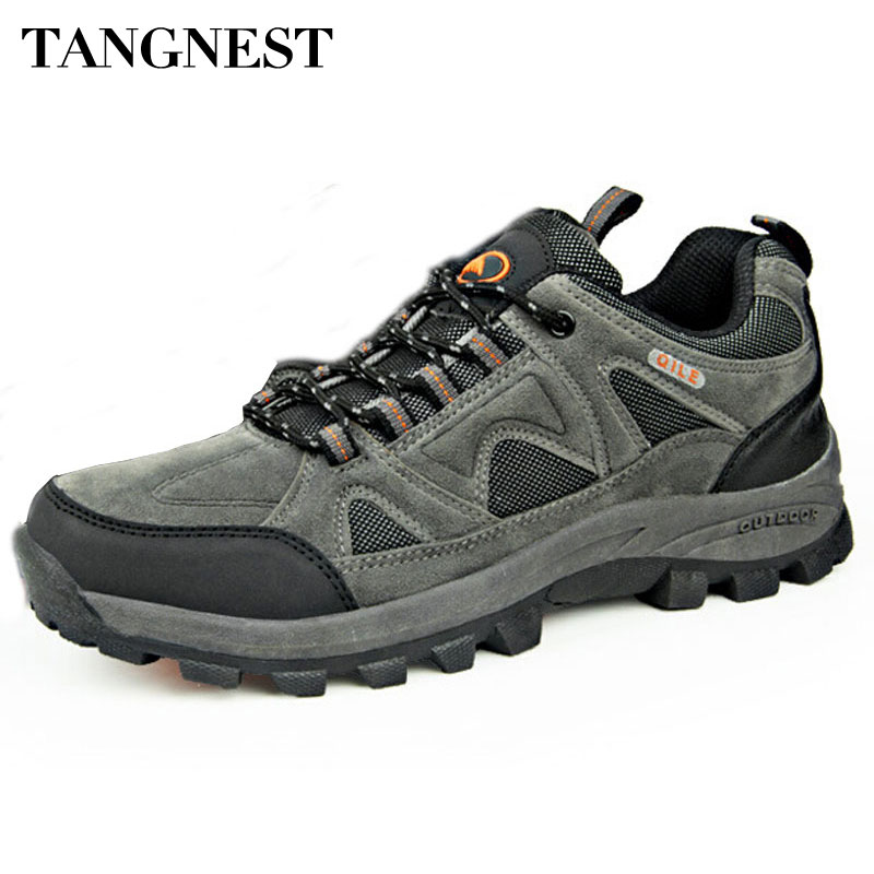 Tangnest  Autumn Men Boots 2018 New Breathable Couple Shoes Male  Casual Waterproof Non-Slip Shoes Man Big Size 36~45 XYD024 kelme 2016 new children sport running shoes football boots synthetic leather broken nail kids skid wearable shoes breathable 49