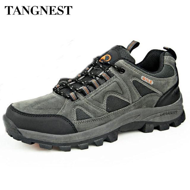Tangnest Outono Homens Botas 2018 Novo Casal Respirável Sapatos Casuais Homem À Prova D' Água Não-Deslizamento Sapatos Homem Sapatilhas Tamanho Grande 45 XYD024