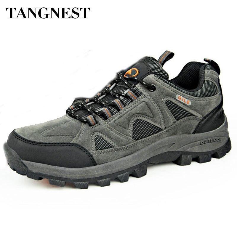 Tangnest de otoño de los hombres 2018 nuevo transpirable zapatos de pareja zapatos casuales de hombre impermeable zapatos antideslizantes zapatos de hombre zapatillas de deporte de gran tamaño 45 XYD024