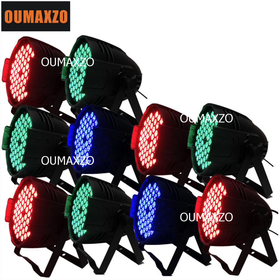 10pcs/lot 54pcs RGB 3in1 led Windmill Par Light Rotating Effect Par Light With Dmx512 High Brightness 54pcs 3W RGB 3In1 LED par free shipping to north america rgb 3in1 super thin led wall washer 24x3w dc 24v 4wires 10pcs lot used for commercial decoration
