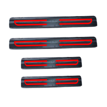 цена на 4D Carbon Fiber Reflective Car Door Sills For mitsubishi Lancer EX Lancer Galant ASX Pajero Outlander Grandis Car-Styling 4Pcs