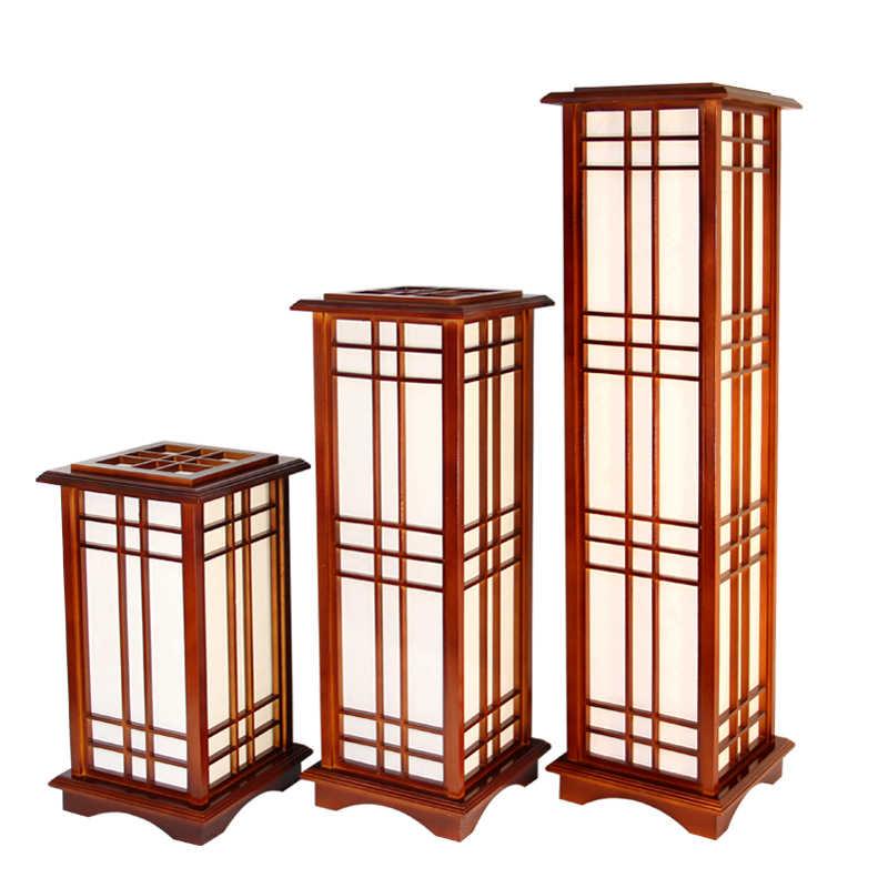 Modern Anese Style Wooden Floor Lamp