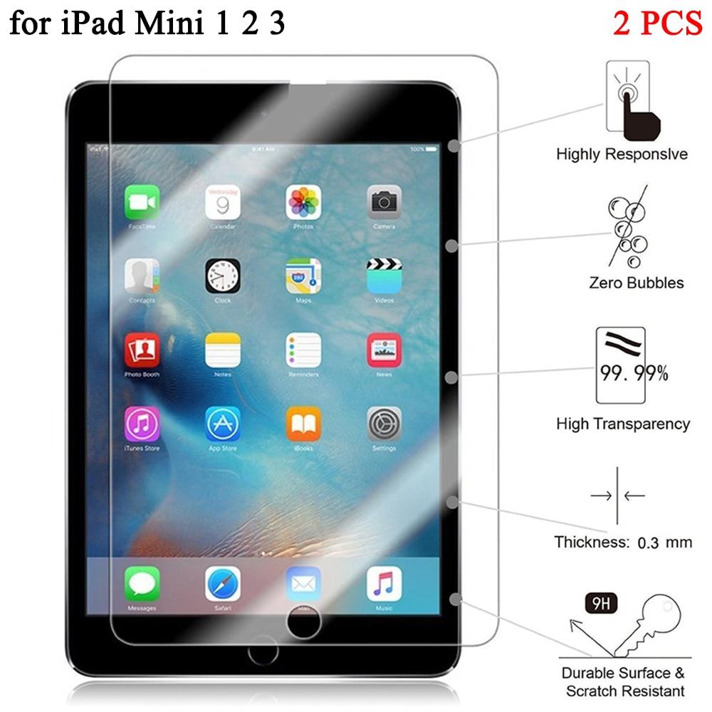 2pcs/lot 7.9 Explosion-Proof Screen Protector For Apple iPad Mini 1 2 3 Tempered Glass for iPad Mini 2 3 Protective Film protective matte pet screen protector for lg g3 mini 3 pcs