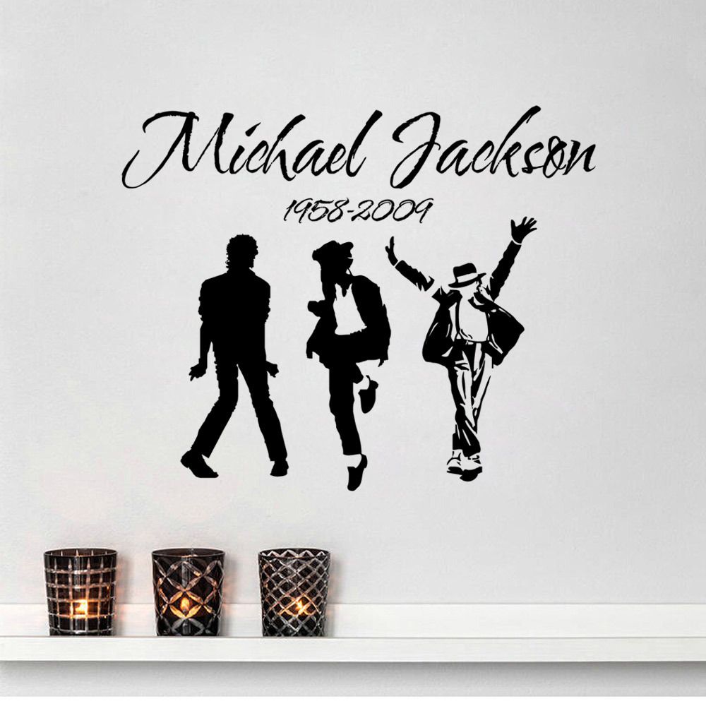 Aliexpress Hot Home Decor Wall Stickers Michael Jackson Decals Vinyl Living Room Boys Poste Sw 10 From