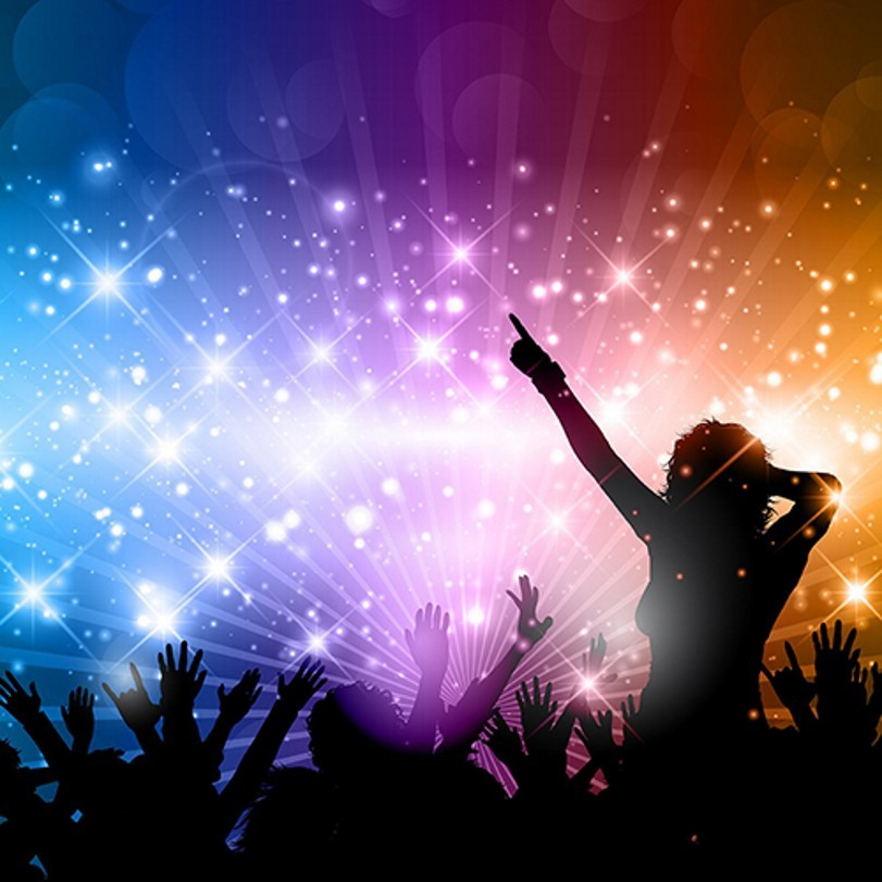 Sparkly Light DJ Disco Party Scene Photography Backgrounds Vinyl Cloth High Quality Computer