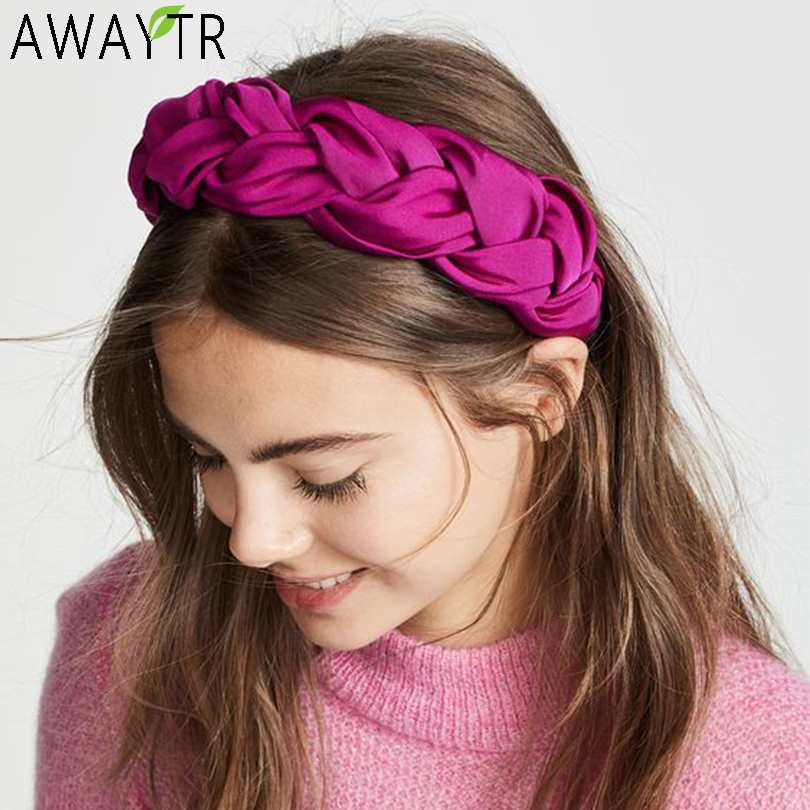 Korean Braid Hairband Women Fabric Knotted Headband Vintage Twist Turban Hair Accessories Fixed Wide Hair Band Boho   Headwear