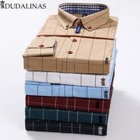 Sergio k Camisa Brand Men Clothes Slim Fit Men Long Sleeve Shirt Men Plaid Cotton Casual Men Shirt Social Plus Size 5xl Dudalina