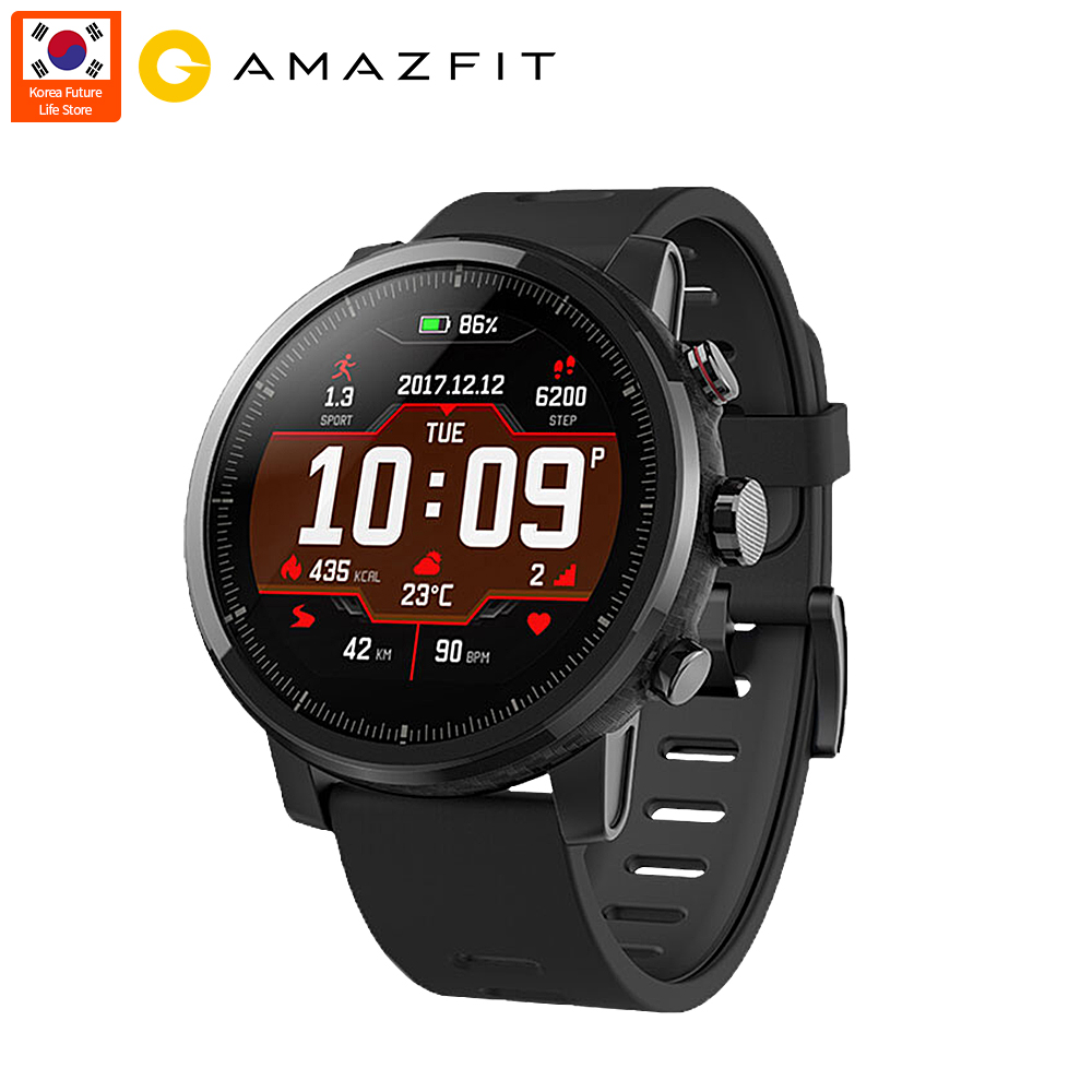 Versión Global Xiaomi Huami Amazfit 2 Stratos Amazfit Pace 2 Monitor de ritmo cardíaco reloj inteligente con GPS 5ATM impermeable