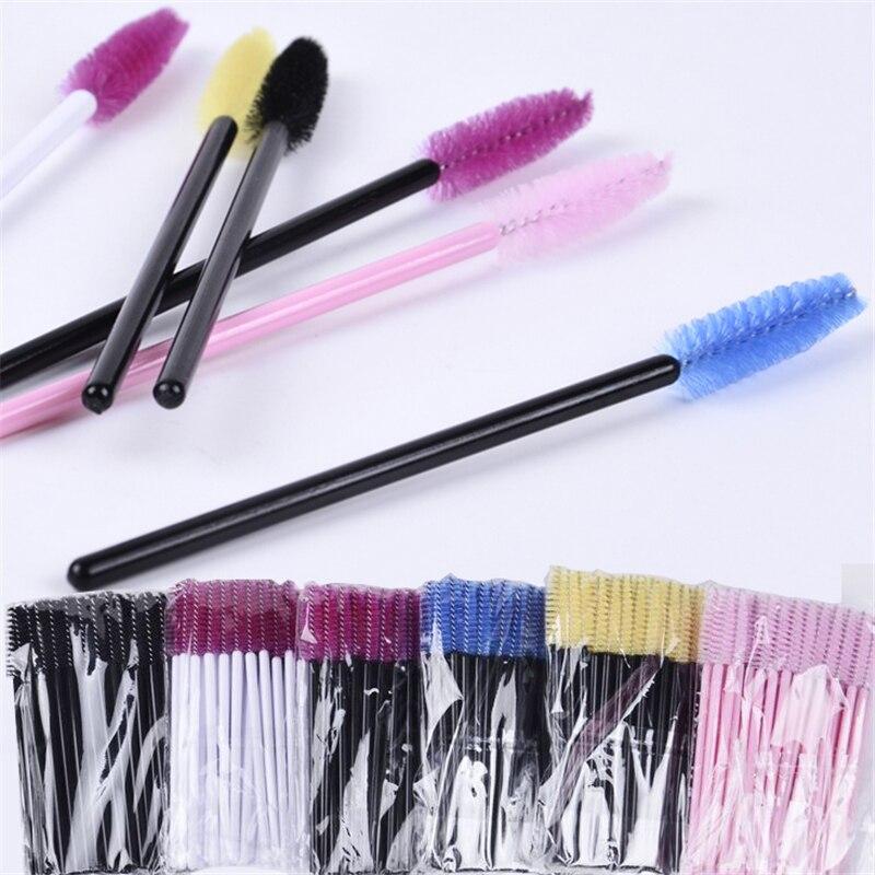 Wholesale 50PCS Disposable Eyelash Brush Mascara Wands Applicator Wand Brushes Eyelash Comb Brushes Spoolers Makeup Tool Kit