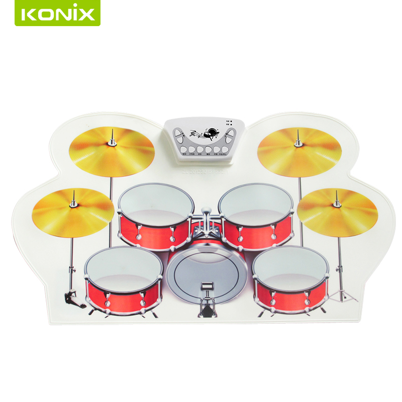 Roll Up Drum Pad Kit Music Instruments Practice oscar de la renta юбка с вышивкой
