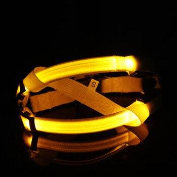 Nylon Pet Safety LED Harness Dog Product Flashing Light Harness LED Dog Harness Leash Rope Belt