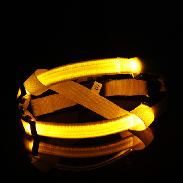 Yellow LED Flashing Light Leash Rope