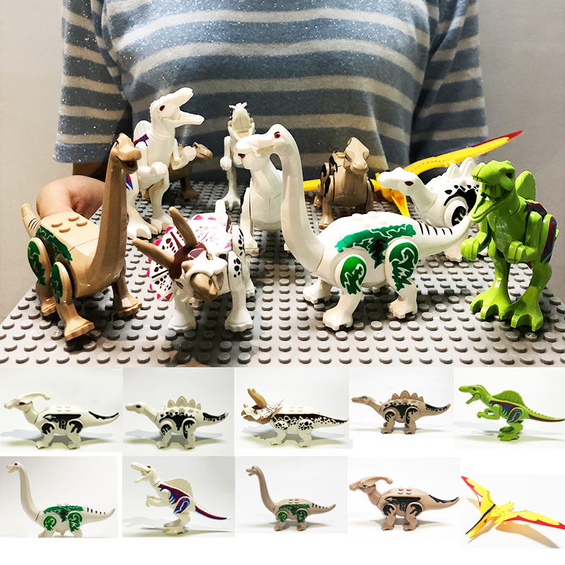 Assemble Dinosaur Building Blocks Dinosaur World Triceratops Models Compatible Animal Brick Toys For Children Gift