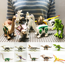Assemble Dinosaur Building Blocks World Triceratops Models Compatible Animal Brick Toys for Children Gift