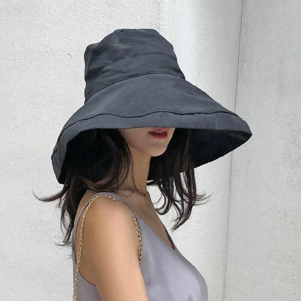 91ee1bd0a5ce9 Spring Summer Women Hat Flat Linen Bucket Hat For Women Travel Sun Hat  Japanese Foldable Solid