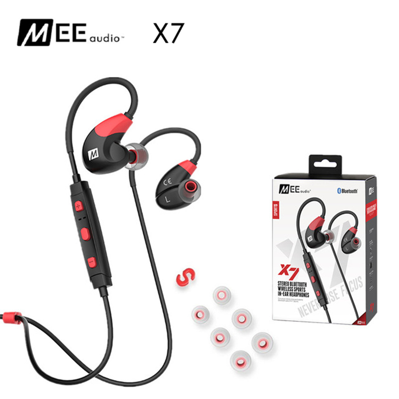 все цены на DHL Free! MEE Audio X7 Stereo Wireless Headphones Sports In-Ear Bluetooth 4.1 Earphones With Mic PK PB2.0 Wireless Headset онлайн