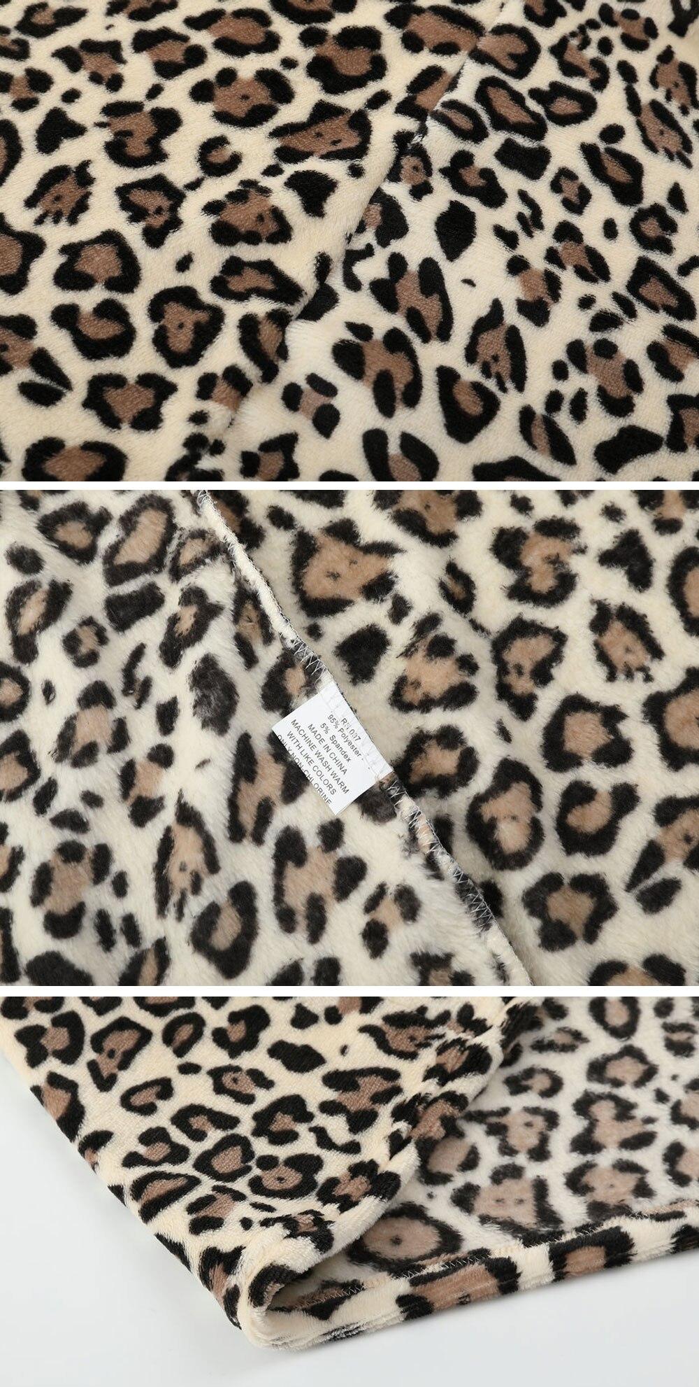 HTB1kN mXtjvK1RjSspiq6AEqXXaj Hirigin 2018 Newest Hot Womens Winter Leopard Fluffy Fleece Jacket Coat Cardigans Hooded Jumper Tops Clubwear