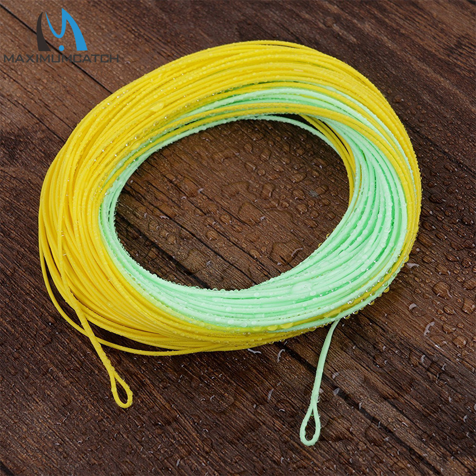 Maximumcatch WF4/5/6/7/8F 100FT Double Color Floating Fly Fishing ...