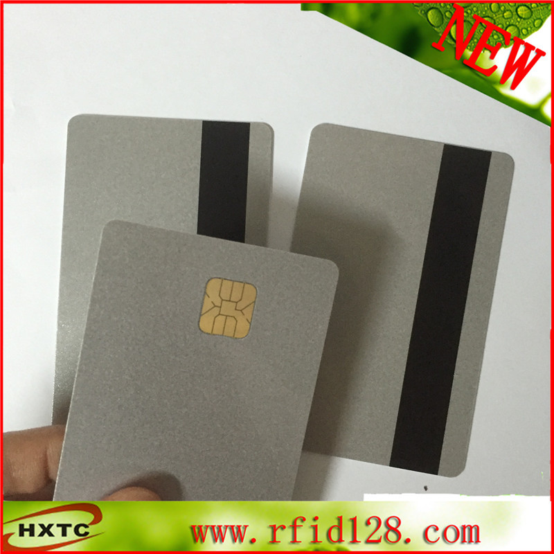 200PCS/Lot 2 in1 Contact PVC blank Smart IC Card Sle4428 Chip wtih HIgo magnetic stripe writer smartcard 20pcs lot contact sle4428 chip gold card with magnetic stripe pvc blank smart card purchase card 1k memory free shipping