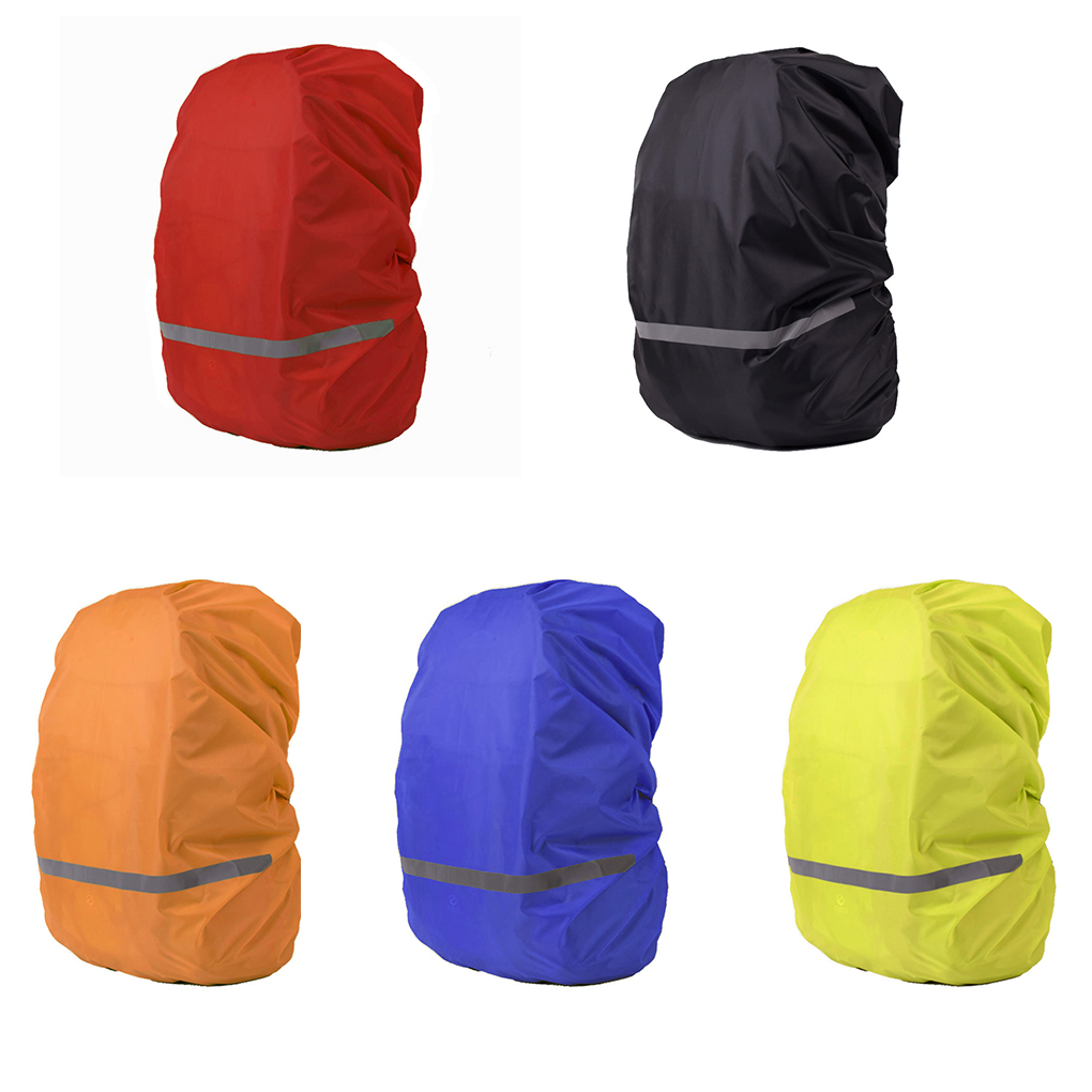 Image 2 - Reflective Light Waterproof Dustproof Backpack Rain Cover Portable Ultralight Shoulder Bag Protect Outdoor Tools-in Raincoats from Home & Garden