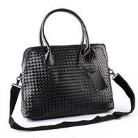 2017 Fashion Design High Quality PU Leather Black Leather Woven Bag Clutch Hand Bag Wrist