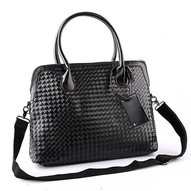 2017 Fashion Design High Quality Pu Leather Black Woven Bag Clutch Hand Wrist Envelope