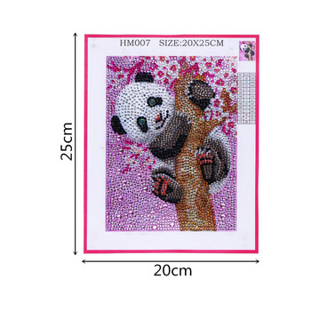 refinement Animal Panda 5D DIY Diamond Painting Full Round Diamond embroidery Cross stitch Diamond crystal