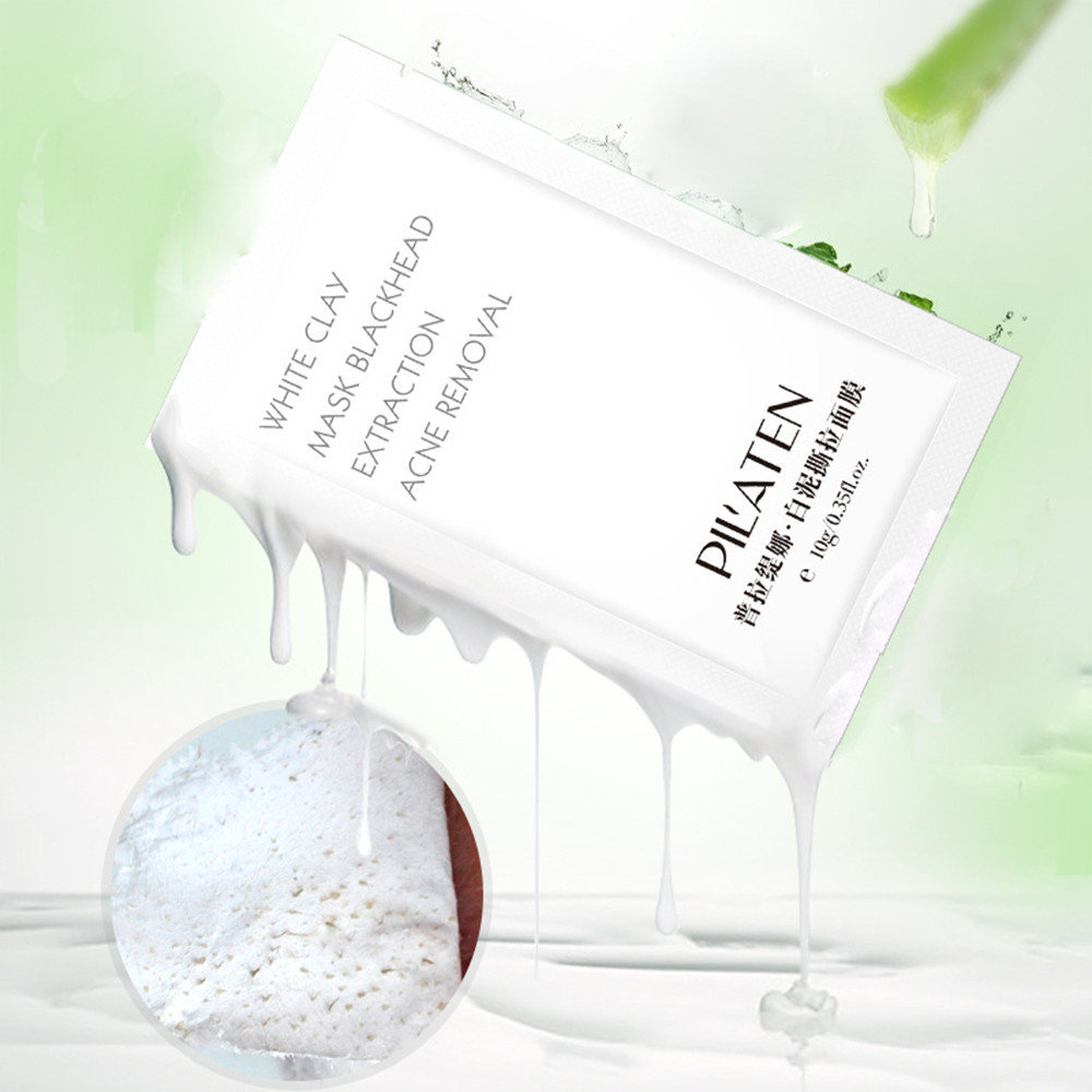 Hot sale Skin Oil Control  1pc Natural aloe white mud to blackhead acne deep care mask Facail Face Mask aloe vera blackhead acne