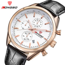 LONGBO Watches Men Top Brand Luxury Waterproof Chronograph Date Male Casual Quartz Watch Men Sport Wrist Watch Relogio Masculino