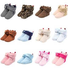 Laamei Unisex Baby Newborn Shoes Cozie Faux Fleece Bootie Winter Warm Infant Toddler Crib Shoes Classic Floor Boys Baby Slofjes(China)