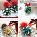 El Pelo de los niños Accesorios Para El Cabello de Lujo Bola Del Árbol de Navidad Forma de Horquilla de La Perla del Envío Libre de la Navidad y Regalo de Año Nuevo