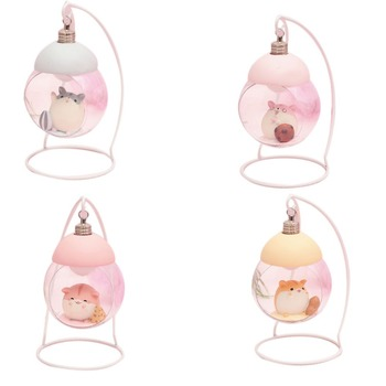 Lamp Hamster Night Light Resin Home Decoration Accessories Cartoon Mouse LED Animals Ornaments For Room Japanese Children Gift 7