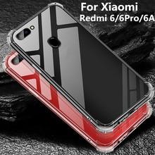 For xiaomi redmi 6 pro Case 6A crystal Clear Transparent Silicone Soft tpu Back cover funda 6a case coque