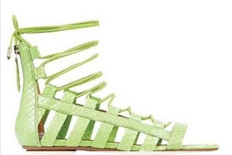 Новинка 2017 года; сандалии гладиаторы на плоской подошве; Mujer; женская летняя удобная женская обувь; обувь для свиданий со шнуровкой - 3