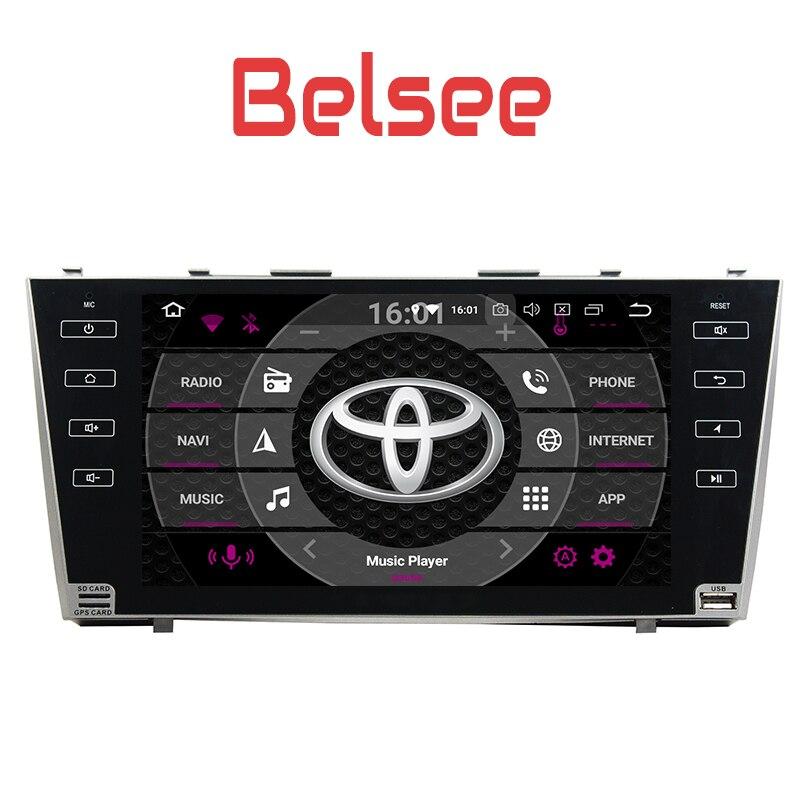 Belsee для Toyota Camry 2007 2008 2009 2011 автомобилей мультимедиа Системы стерео Android 8,0 Штатная двойной 2 Din Octa core 4 + 32 ГБ
