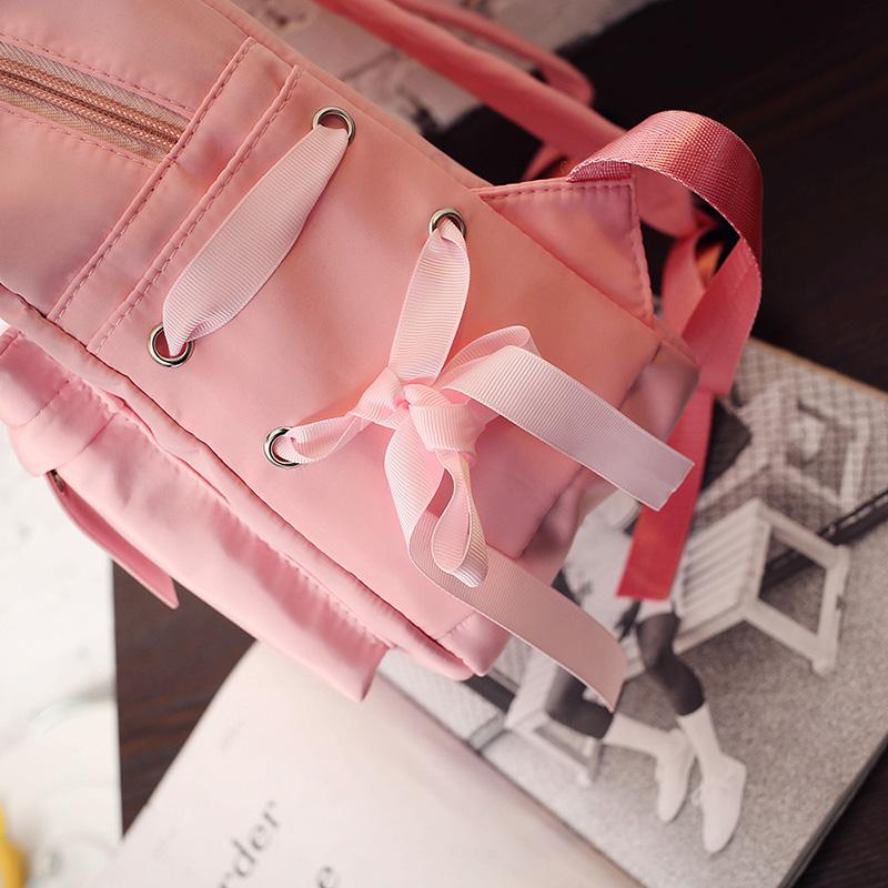 Menghuo Large Capacity Backpack Women Preppy School Bags For Teenagers Female Nylon Travel Bags Girls Bowknot Backpack Mochilas (42)