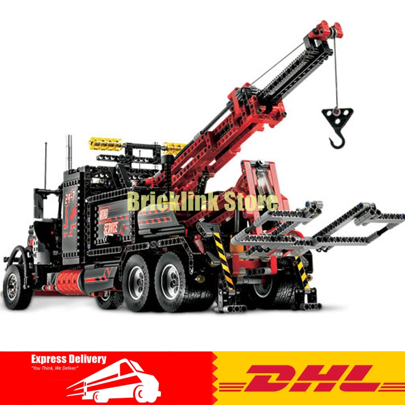2018 Lepin 20020 Technic Series The Mechanical American Style Heavy Container Trucks Building Blcoks Bricks Toys 8258 Gifts lepin 20076 technic series the mack big