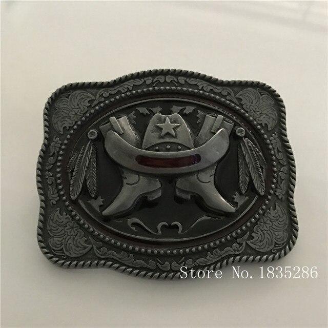 7f173408baeb Western Retail Cool 3D Bottes chapeau Cowboy Ceinture Avec Boucle En Métal  ceinture Tête Femme Homme