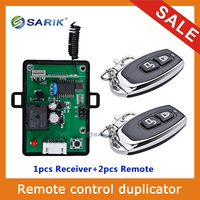 Learning Code 433Mhz Universal Wireless Remote Control Switch DC12V 1CH Relay Receiver Module And 2pcs 2