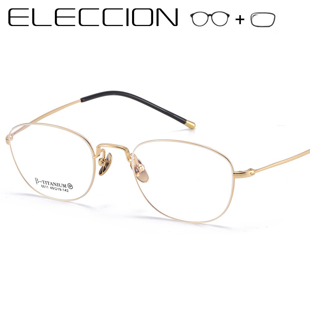 ELECCION Prescription Glasses Optical Eyeglass Ultralight Pure Titanium Rim Woman's Eyeglasses Myopia Eyewear okulary korekcyjne(China)