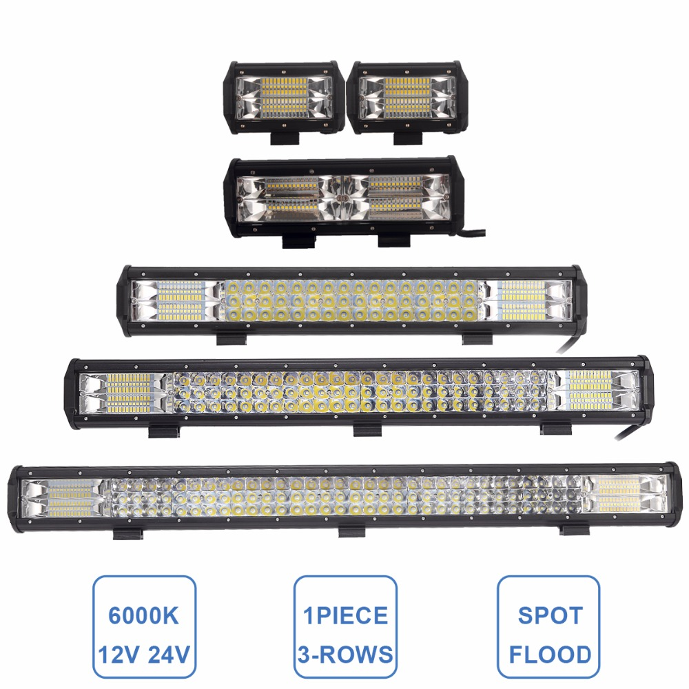 4 5 9 20 26 31 INCH LED LIGHT BAR OFFROAD 12V 24V CAR 4WD 4X4 UTV ATV SUV TRUCK TRAILER WAGON PICKUP TRACTOR DRIVING WORK LAMP