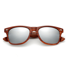 Men's Retro Wooden Sunglasses with Colorful Lenses and Wooden Case