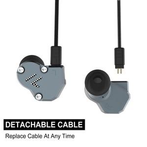 Image 3 - RevoNext QT2 לשלושה נהג באוזן HIFI להסרה Wired אוזניות סטריאו אוזניות עם דינמי ומאוזן אבזור היברידי נהג