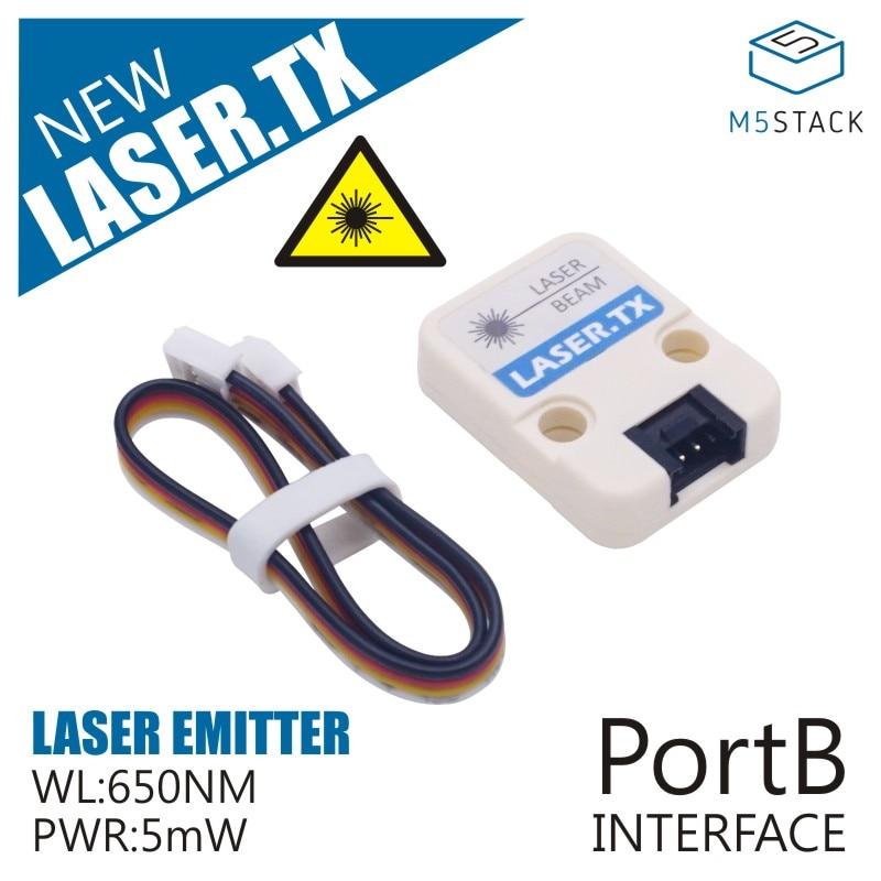 M5Stack Official Laser Tx Unit Laser Emitter With Adjustable Focal Length