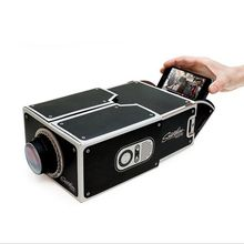 Smartphone Projector  DIY Cardboard Mobile Phone Projector Portable Cinema Without Power Supply Factory Price