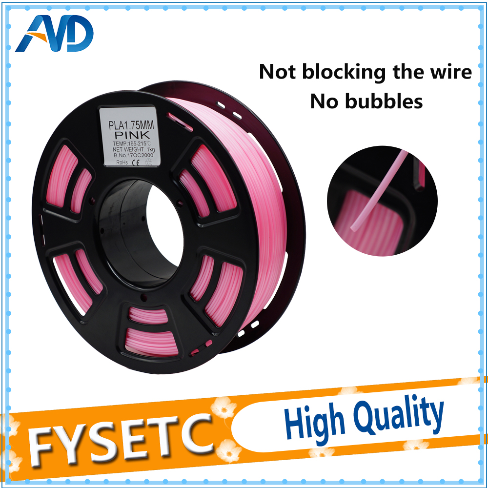 PLA 1.75mm 1KG Filament For 3D Printer Plastic Filament 3d Pen 1.75 PLA Filament Pink Color Top Quality Printing Materials new pla 3d printer filament consumables 3d print pen supplies 1 75mm 1kg metal filament upgraded quality for 3d printer