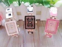 New arrival the rectangle Bracelet watch trend set diamond girls watches lovely quartz watch