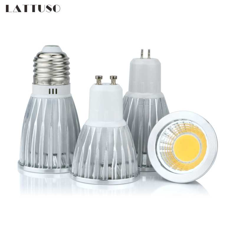 COB led spotlight 3W 5W 7W 10W led lights E27 E14 GU10 GU5.3 220V MR16 Cob led bulb Warm White Cold White lampada led lamp