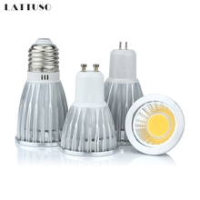 COB led spotlight 3W 5W 7W 10W led lights E27 E14 GU10 GU5.3 220V MR16 Cob led bulb Warm White Cold White lampada led lamp цена